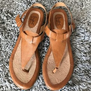 Boc leather thong sandal
